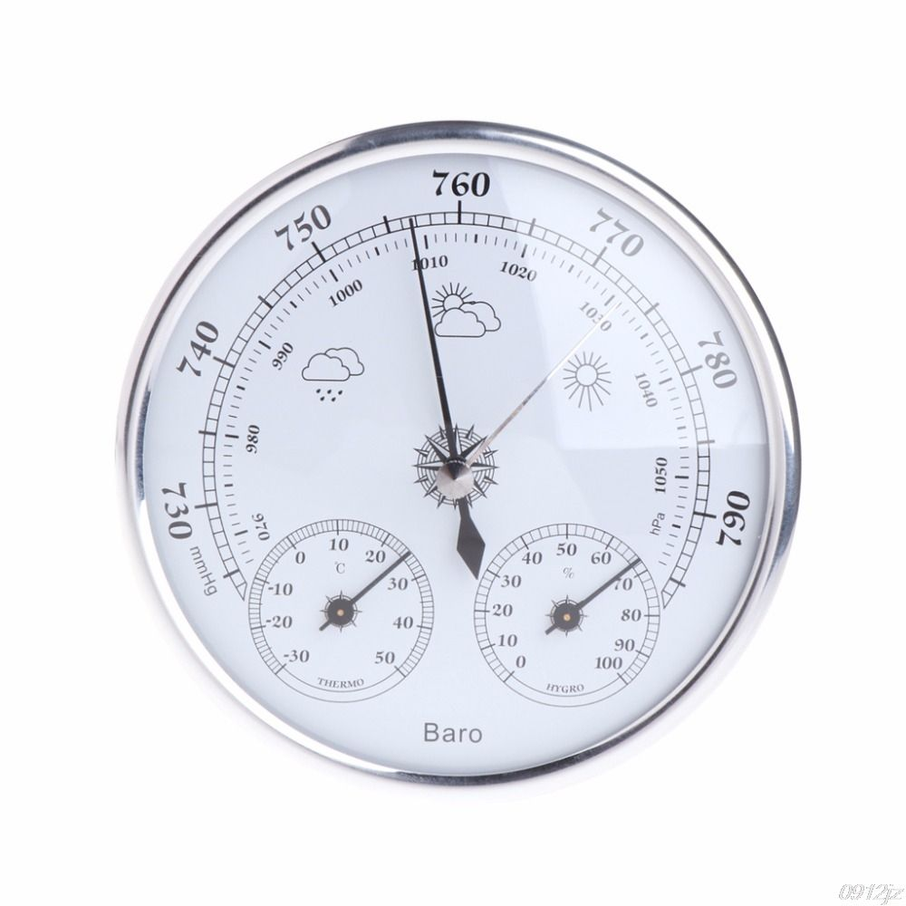 Wall Mounted Household Thermometer Hygrometer High Accuracy Pressure Gauge Air <font><b>Weather</b></font> Instrument Barometers New Drop ship