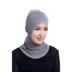 Chic Musulman Hijabs Femmes Sous Écharpe Hat Cap Bonnet Ninja Hijab Islamique Col Couverture 12 Couleur