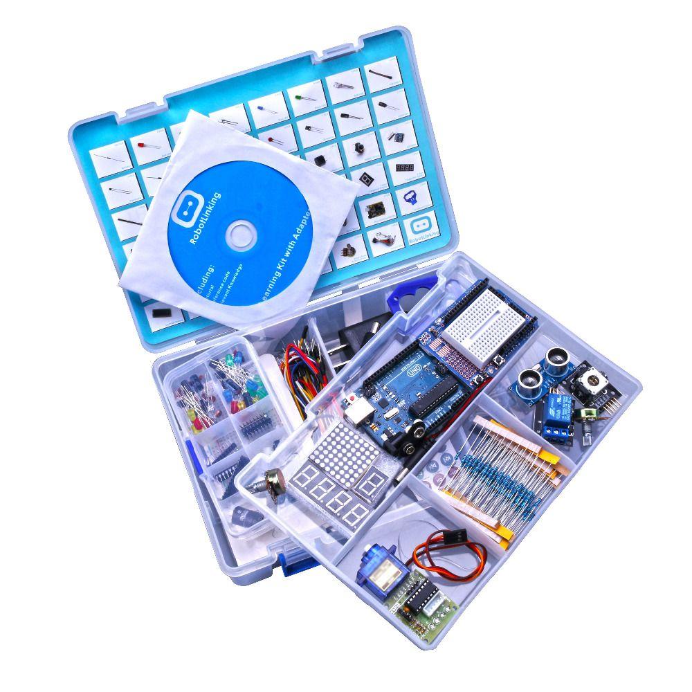 Version améliorée Avancée Starter Kit apprendre Suite Kit LCD 1602 pour Arduino UNO R3 Avec Tutoriel