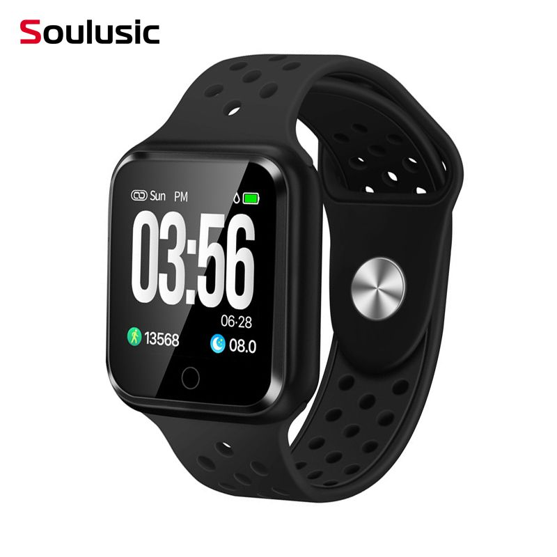 Soulusic Bluetooth Smart Watches Watch IP67 Waterproof Heart Rate Blood Pressure Smartwatch for Android iPhone PK IWO 8 F8 S226