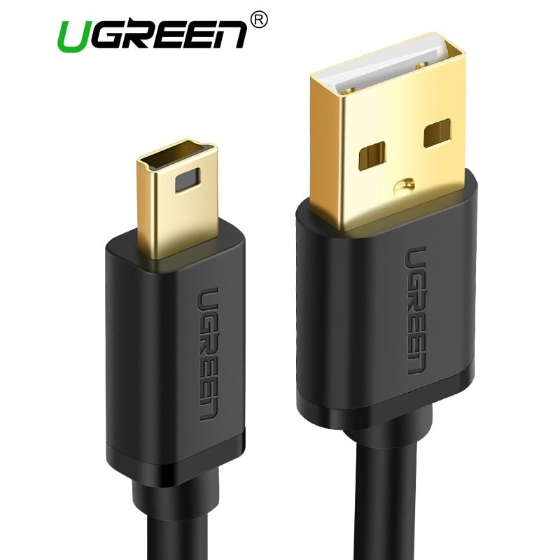 Ugreen Mini USB Kabel Mini USB zu USB Schnelle Datenkabel für MP3 MP4 Player Auto DVR GPS Digitalkamera HDD Mini USB