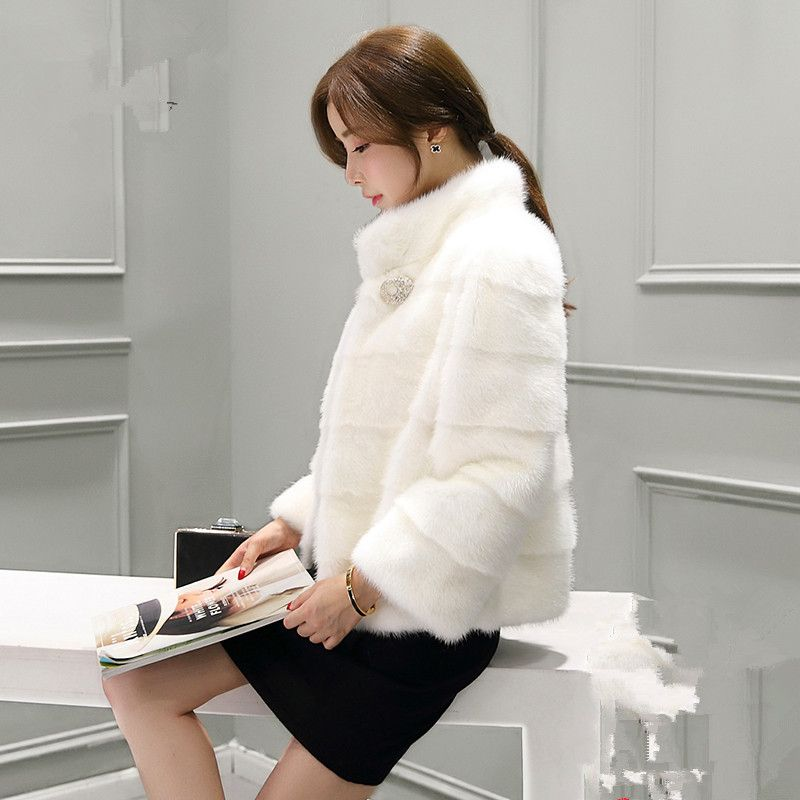 New winter mink fur mink short paragraph mink coat female models mink coat female warm coat