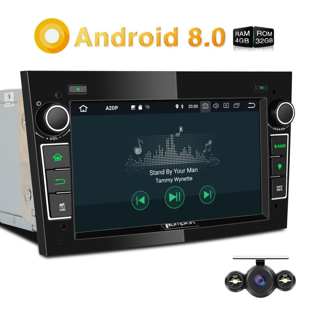 Pumpkin 2 Din Android 8.0 Car Radio No DVD Player GPS Navigation 4GB RAM Car Stereo For Opel/Corsa Bluetooth Qcta-core Headunit