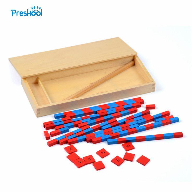 Bébé Jouet Petit Barres Numériques Montessori Mathématiques Apprentissage et L'éducation Classique Bois Enfants Jouets Brinquedos Juguetes