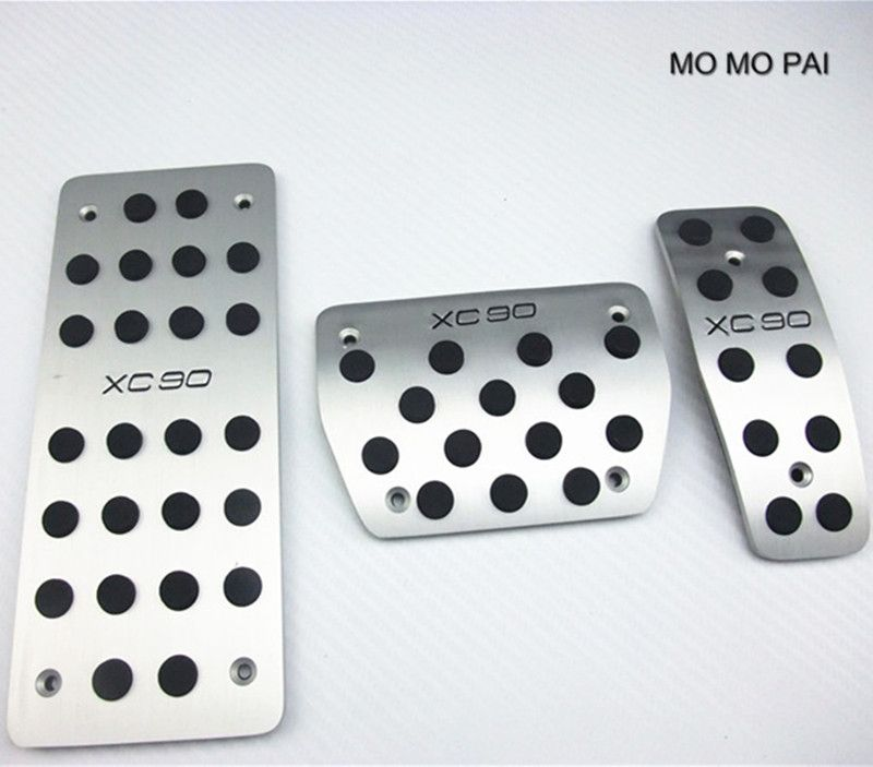 Fuel Brake Foot Rest Step Board pedals plate For Volvo XC90 2003-2012 AT Automatic Car