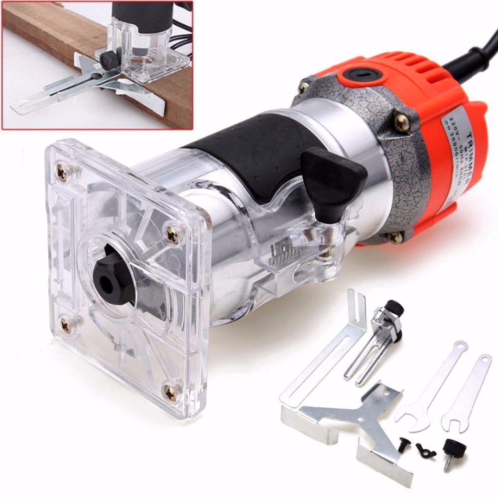 1 Set 800 W 220 V Holz Trim Router 6,35mm Sammeln Durchmesser Elektrische Hand Trimmer Holzbearbeitung Laminat Palm Router joiner Werkzeug