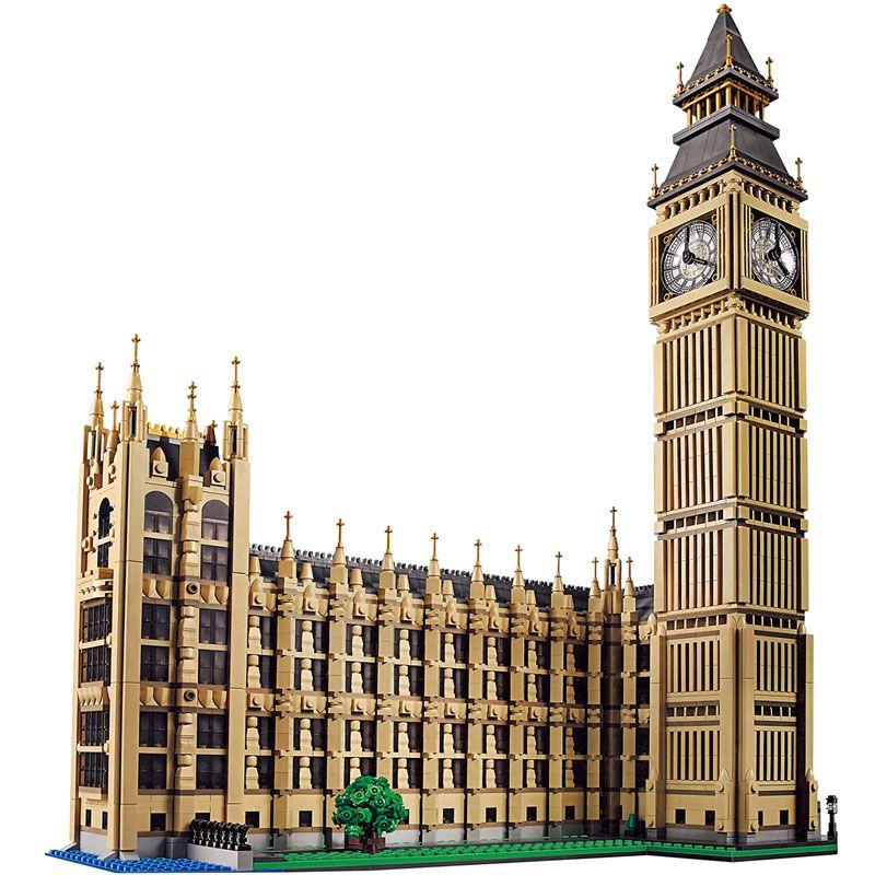 Technik Bausteine Kompatibel LegoINGlys Architektur Big Ben Stadt Straße Anzeigen Serie Welt Große Berühmte Haus 4164 Stücke