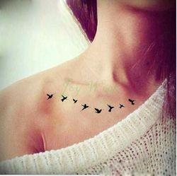 Impermeable tatuaje temporal etiqueta volar pájaros sirena búho Deer mandala pegatinas Tatto flash tatoo tatuajes falsos para la muchacha 4