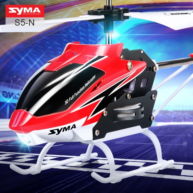 Original SYMA S5-N RC Helicopter 3CH Infrared With Self-balancing Shatterproof Aircraft Remote Control Toys Kid Children Gift