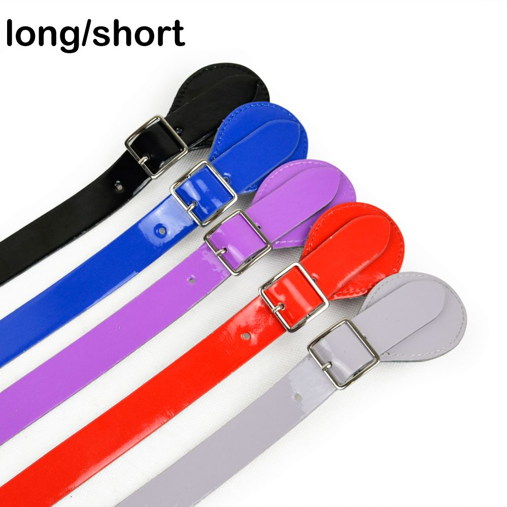 New 3 Color Lacquer Long Short Flat Handle for Obag Adjustable Leather Handles with Drop Buckle for O Bag O CHIC Obag '50