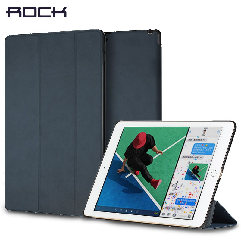Standplatz Für iPad 9,7 pro 10,5 12,9 zoll 2017, ROCK Auto-Sleep Wake-up Magnet Holder Protector Shell Für iPad 2017