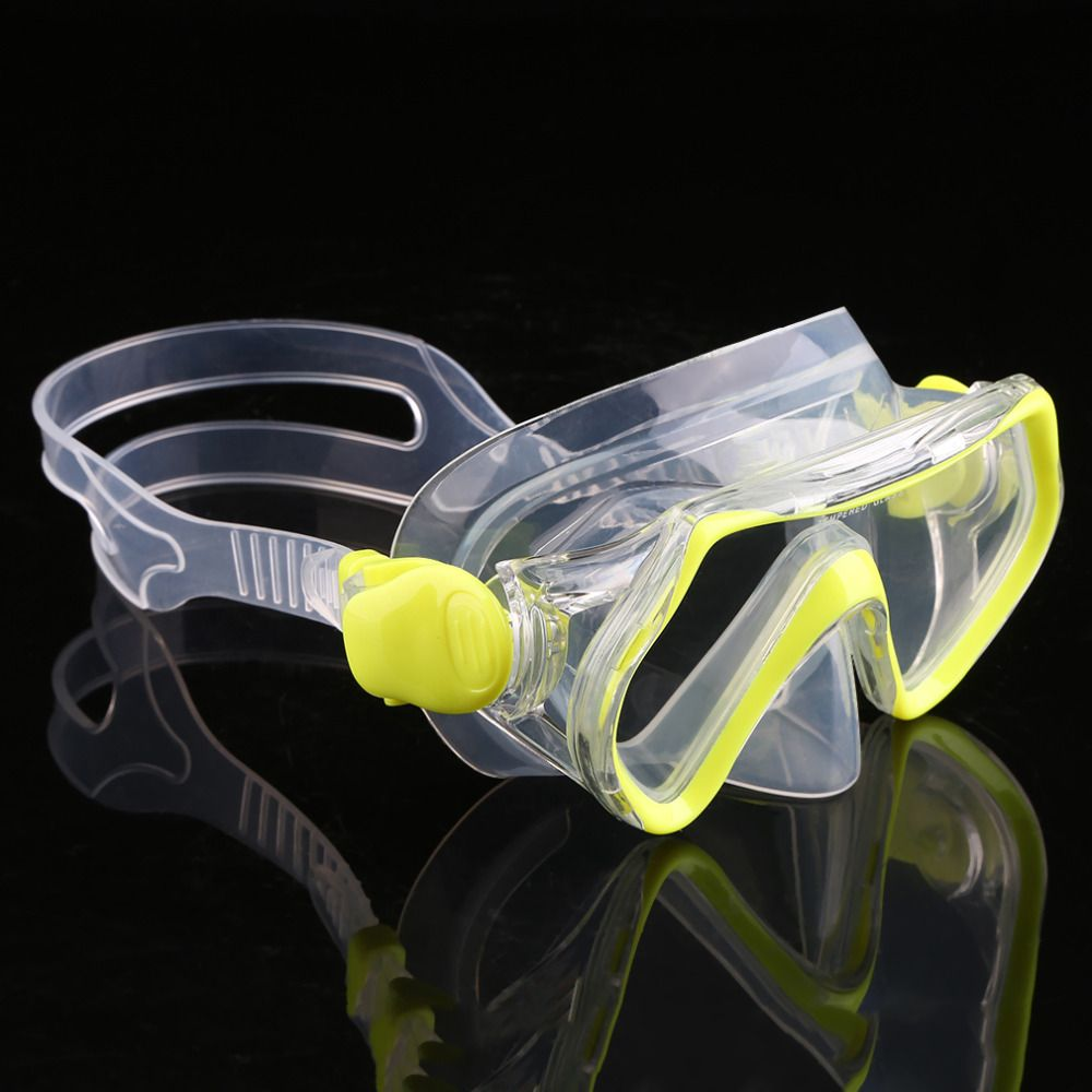 Children Diving Swimming Mask Plain Glasses Tempered Glass Lens Snorkeling free shipping