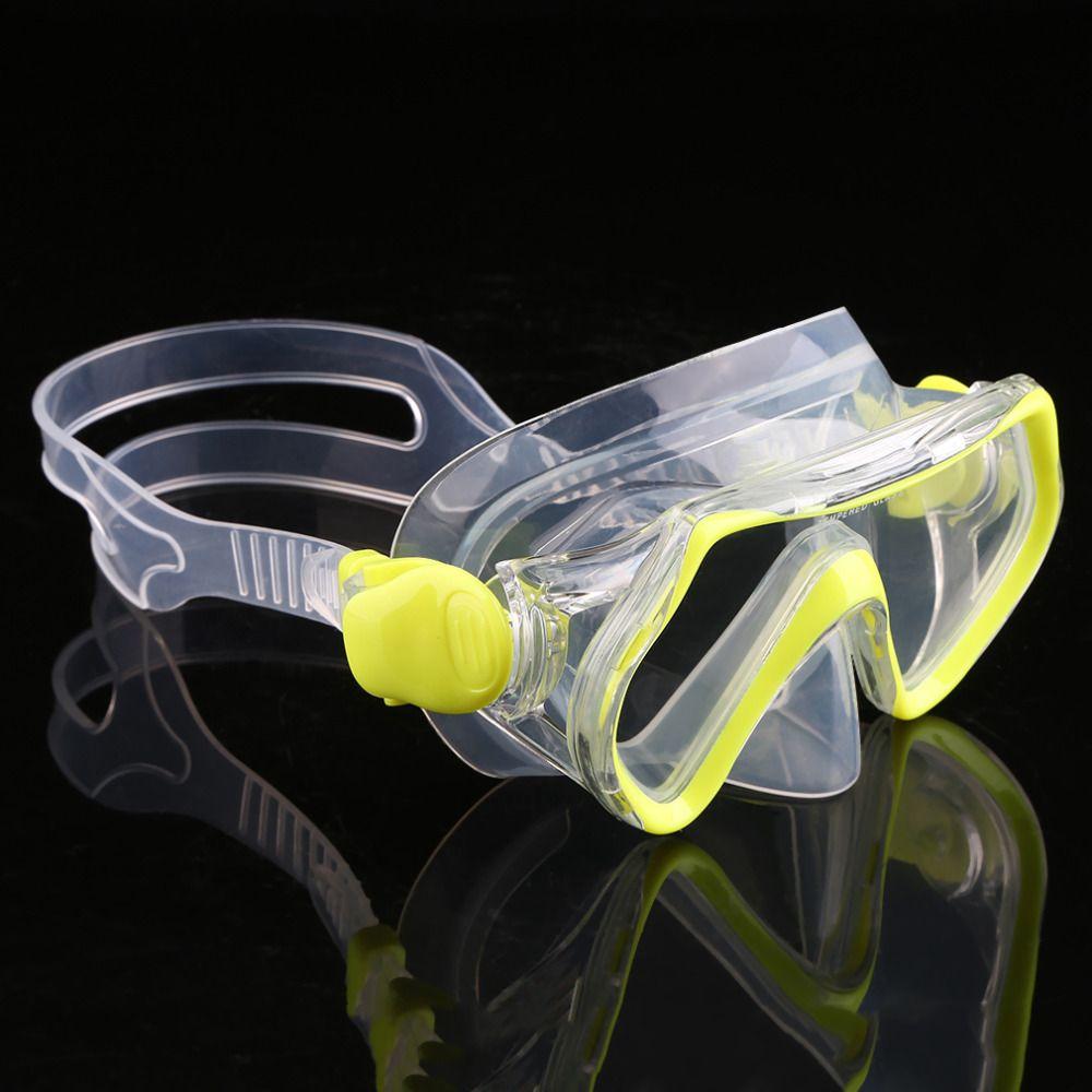 Niños Máscara de Buceo Natación Llanura Gafas Lente De Cristal Templado Snorkel envío gratis