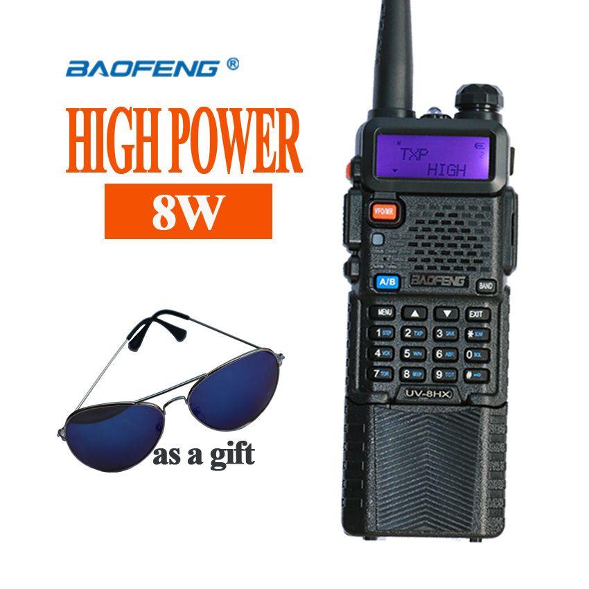 Chaude Portable Radio Baofeng 5R 8 W UV5R Radio station Baofeng Walkie VHF UHF portofoon talkie walkie Baofeng UV-5R Communicateur