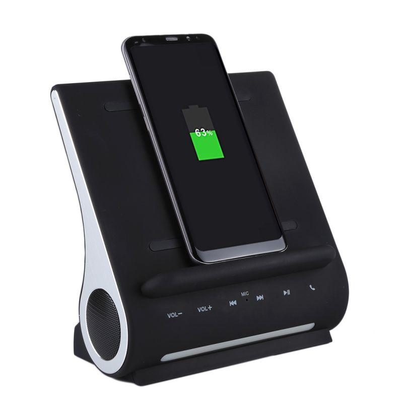 AZPEN D100 10 W Qi Chargeur Sans Fil De Charge Pad Basse Haut-Parleur HIFI Pour Samsung HTC Android Téléphone Charge Station D'accueil