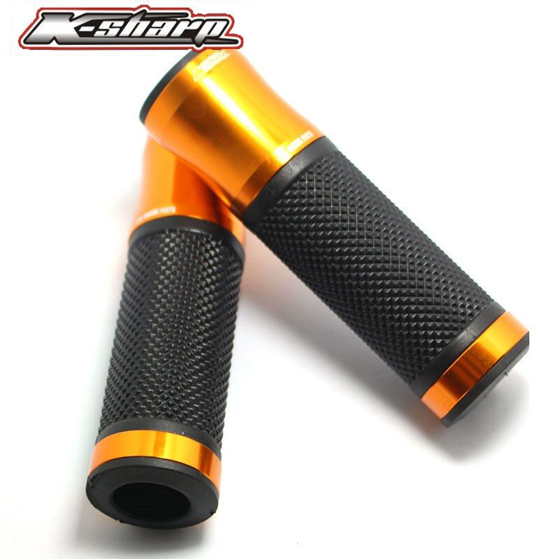 9 color CNC Motorcycle Aluminum Rubber Gel Hand Grips 7/8