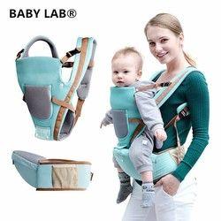 Bebé laboratorio transpirable multifuncional transpirable canguros mochila infantil Sling Carrier Hip asiento porta bebé para todas las estaciones