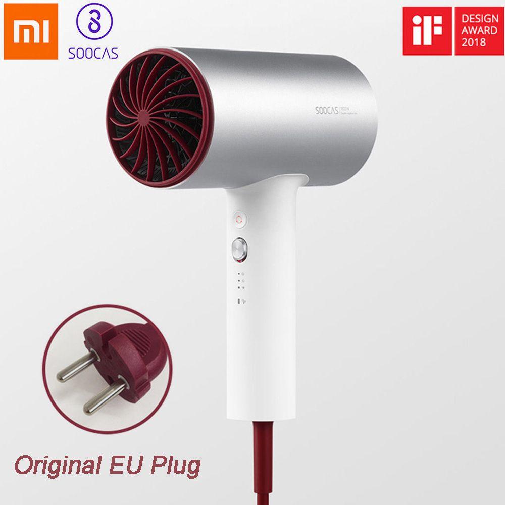 Xiaomi SOOCAS H3 H3S professionnel sèche-cheveux Ions négatifs séchage rapide électrique soins des cheveux 1800W sortie d'air Anti-chaud innovant