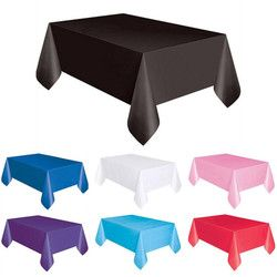 1 PC 137*183 cm En Plastique Jetable Nappe Solide Couleur De Mariage D'anniversaire Partie Couverture De Table Rectangle Bureau Tissu Essuyer couvre vente