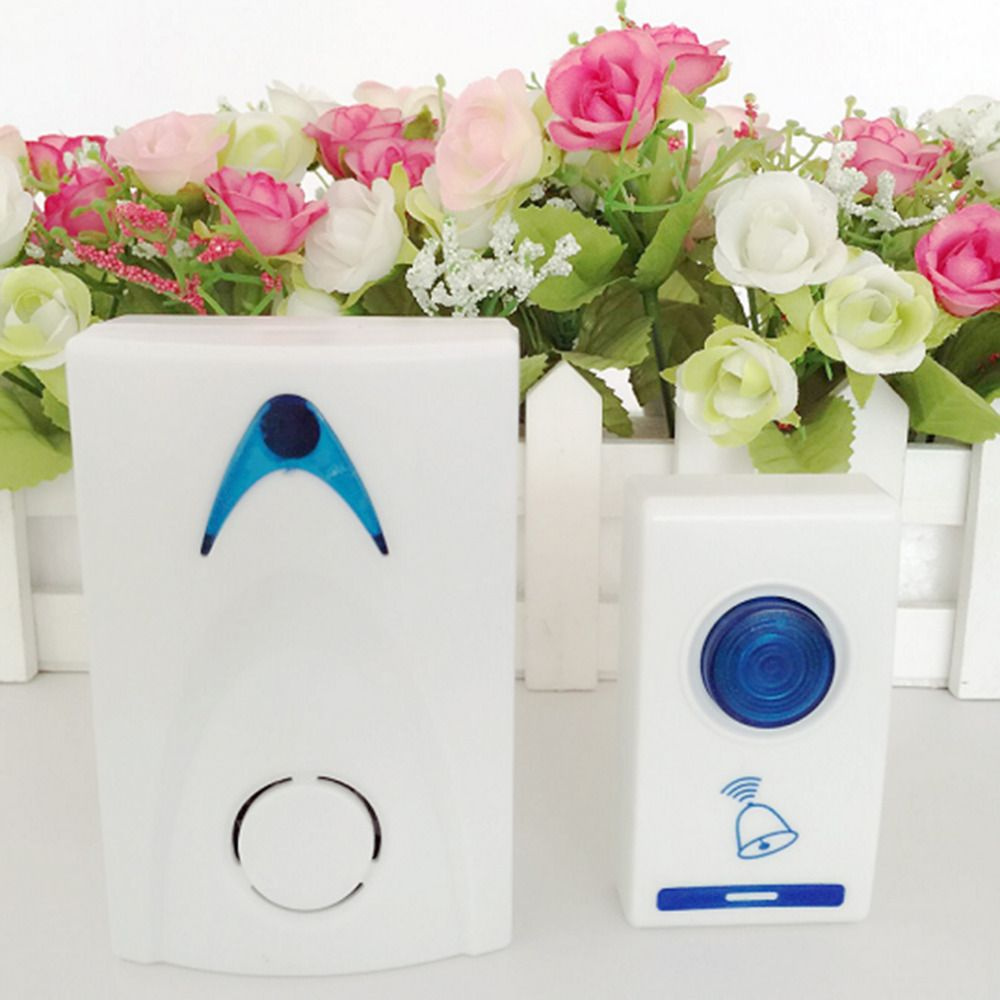 Wireless Door Bell 504D LED  Chime Door Bell Doorbell & Wireles Remote control 32 Tune Songs White Home Security Use