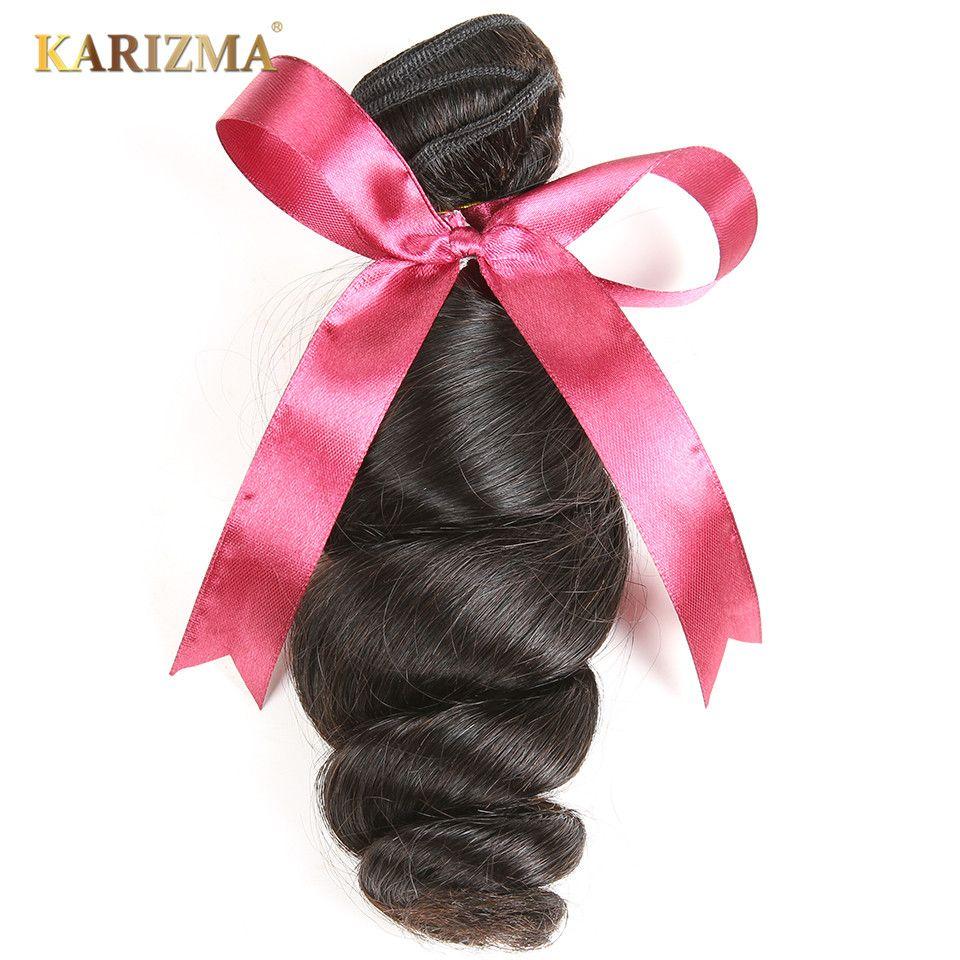 Karizma Extension de cheveux de vague lâche brésilienne 100% paquets de cheveux humains Non Remy armure de cheveux 1 pièce 8-28 pouces couleur naturelle peut teindre