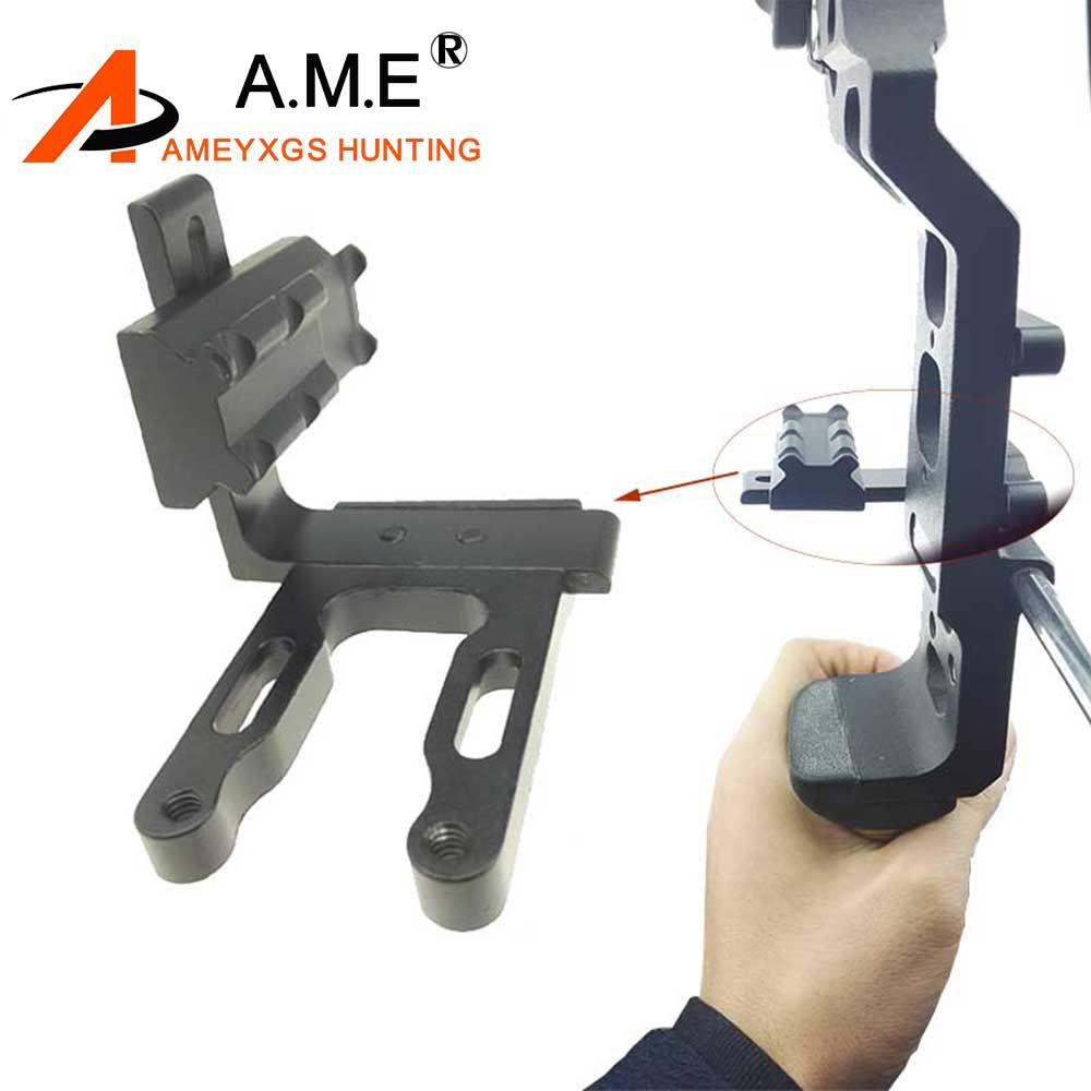 Hunting Archery CNC Bow Sight Aiming Lamp Bracket Mount for Red Dot Laser Sight Reflex Sight Fits Compound Bow Recurve Bow