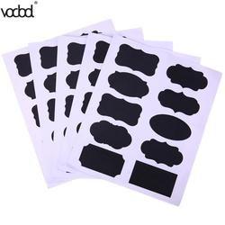 50 unids/set pizarra etiqueta del tarro de la cocina del arte Windows puede almacenamiento PVC Memo Lables Oficina papelería