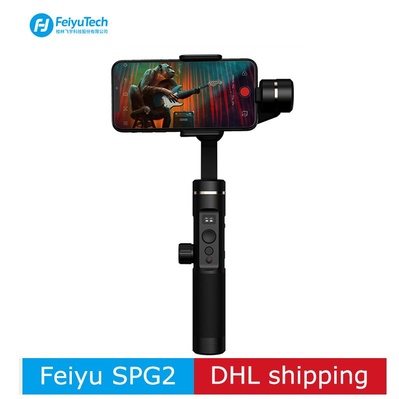 FeiyuTech SPG2 3-Axis Handheld Stabilizer Gimbal for Smartphone action camera iphone XS X Max 7 8 6 Gopro 7 PK DJI osmo smooth 4