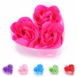3 PCS Parfumée Corps Bain De Fleur de Savon Rose Savon Anniversaire Cadeaux du Jour de Valentine Romantique De Mariage Faveur De Douche