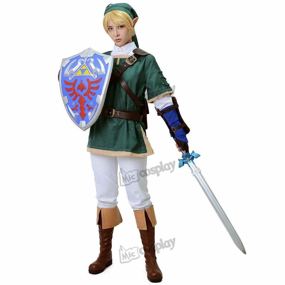 Lien Anime Costume Cosplay-la légende de Zelda lien Halloween vêtements de fête tenue Cosplay