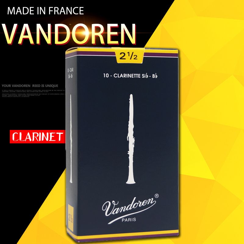 Original France Vandoren Traditional Bb Clarinet blue box Reeds / Reed for Clarinet Strength 2.0# 2.5 # 3.0# 3.5# Box of 10