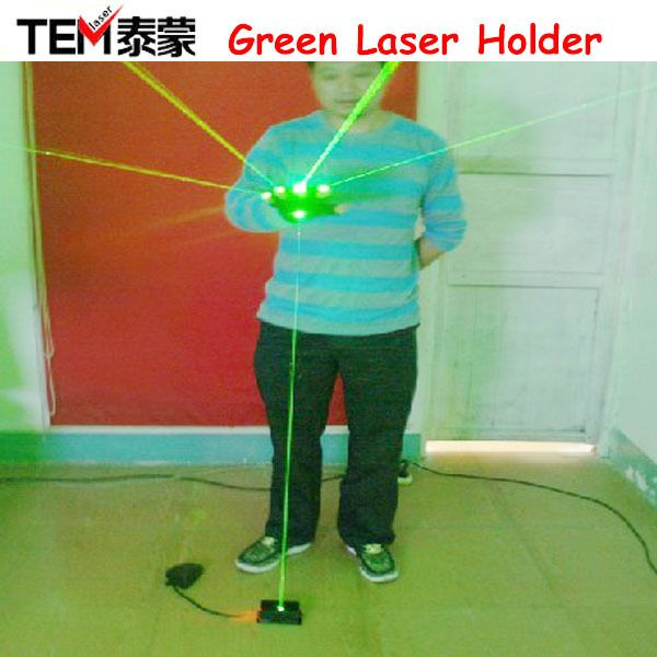 Free Shipping 532nm Green Coarse big spot laser beam with foot switch. Laser lights, For laser man show