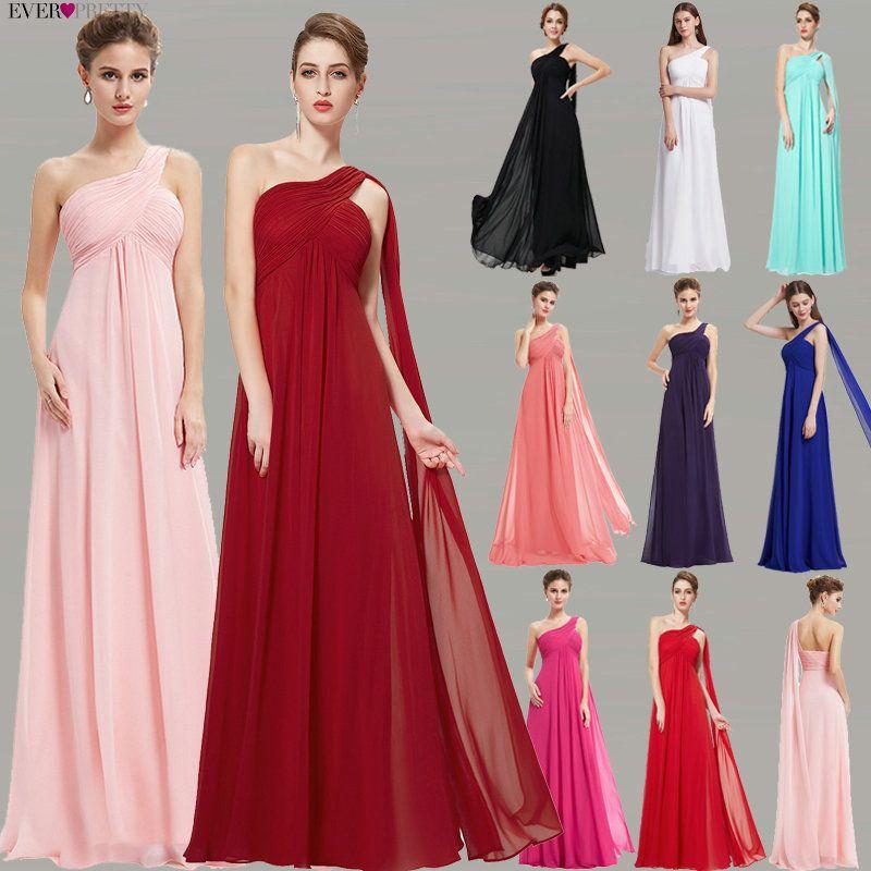 Robes de soirée Ever Pretty EP09816 une épaule volants rembourré Occasion spéciale mariages événements Long 2019 nouvelle robe de soirée