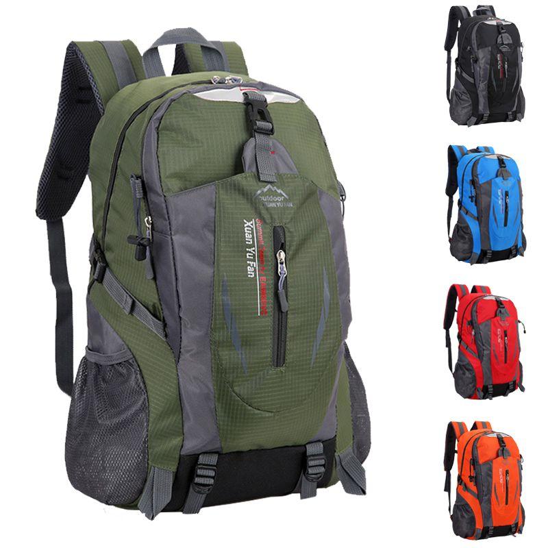 40 L nouveaux hommes Nylon voyage sac à dos grande capacité Camping décontracté sac à dos 15 pouces sac à dos pour ordinateur portable femmes en plein air sac de randonnée