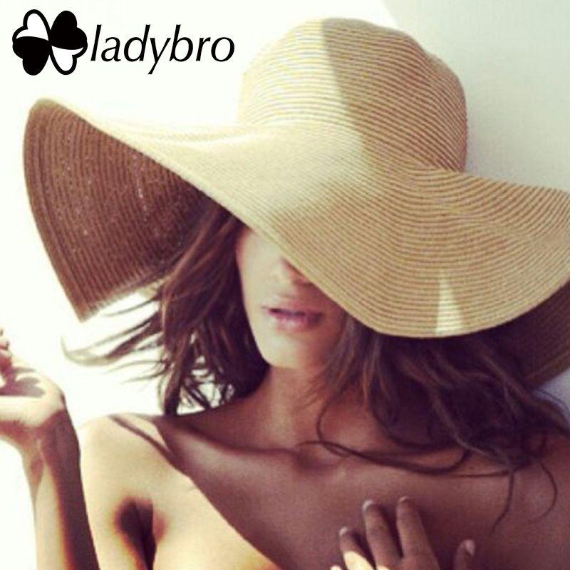 Ladybro large bord disquette enfants chapeau de paille chapeau de soleil plage femmes chapeau enfants été chapeau UV protéger voyage casquette dame filles casquette femme