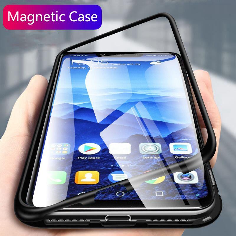 Pour Huawei Compagnon 20 Pro 20 Lite 20X Magnétique Cas En Aluminium En Métal Cadre En Verre Clair Cas Pour Huawei P20 Pro honneur 10 V10 Nova 3 3i