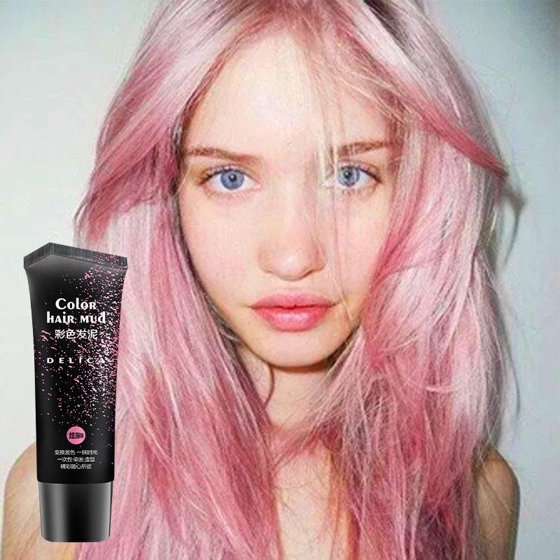 6 couleurs jetables cheveux pommade romantique rose rapidement façonnage cheveux couleur boue mode temporaire cheveux Style produit 50 ml