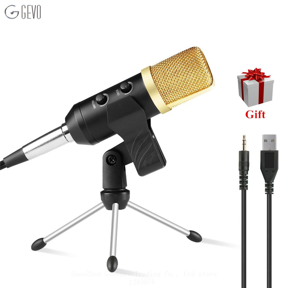 MK-F100TL Condenser Microphone Professional Desktop Studio Usb Microphone With Stand Tripod For Computer Karaoke <font><b>Video</b></font> Recording