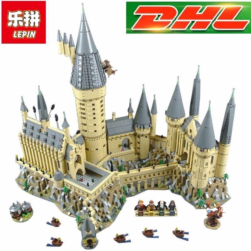 Kompatibel Legoings 71043 Lepin 16060 6742 stücke Harry Magie Potter Hogwarts Castle Schule Kit Bausteine Ziegel Spielzeug Modell
