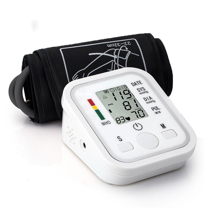 Oberen Arm Blutdruck Monitor Tragbare Tonometer Gesundheit Pflege BP Digitale Blutdruckmessgerät Herz Schlagen Meter Maschine