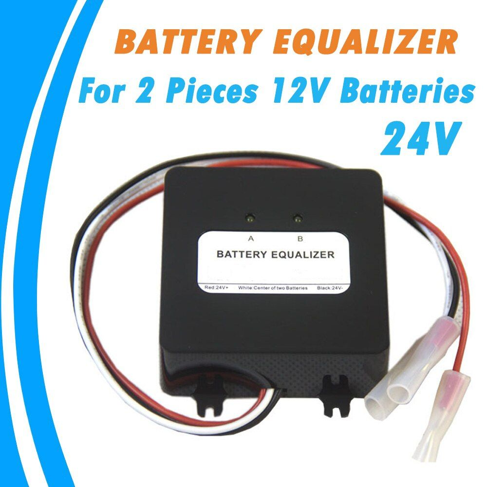 Battery Equalizer for Two Pieces 12V Gel Flood AGM Lead Acid Batteries