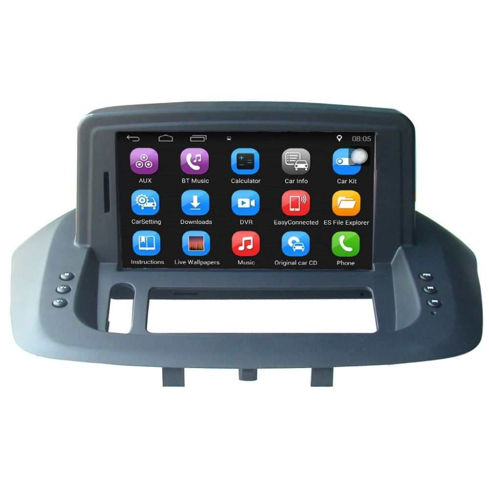 Auto zubehör 7 zoll Android Auto GPS-Navigation für Renault Fluence Auto Radio Video Player Unterstützung WiFi Bluetooth