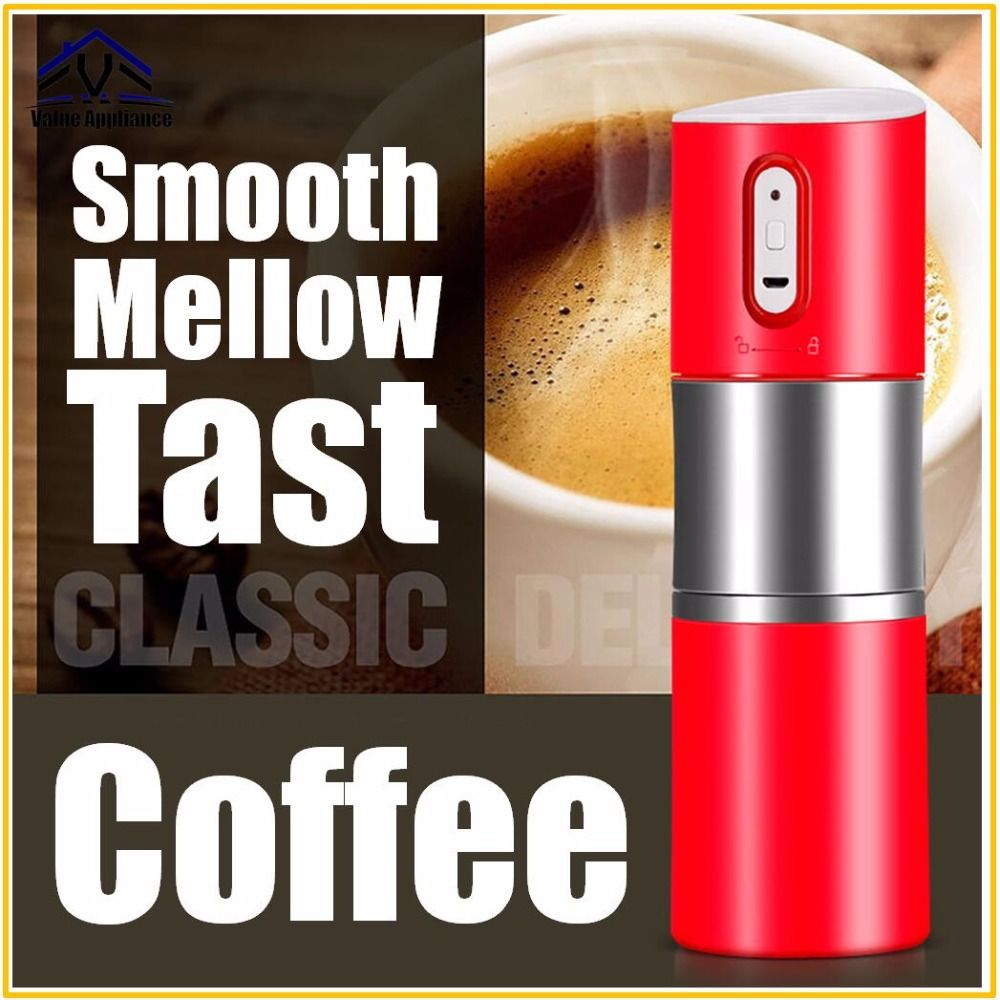 Mini Elektrische Kaffee Maschine Motor Kaffee Maker Tragbare Kompakte Manuelle Espresso Maker Tragbare Express Kaffee Maker