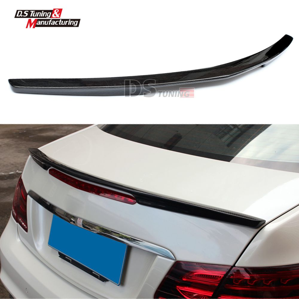 Mercedes W207 Replacement AMG Style Spoiler For Benz E Class W207 2010 + Tail Rear Trunk Spoiler Wing Carbon Fiber Car Styling