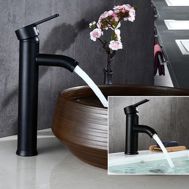 Livraison gratuite Biggers couleur noire en acier inoxydable salle de bain bassin robinet mitigeur eau froide et chaude