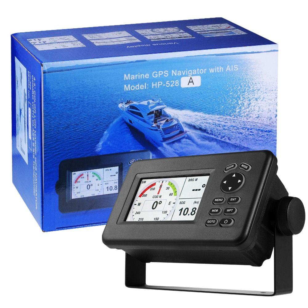 Matsutec HP-528A 4,3-zoll Farbe LCD Diagramm Plotter Eingebaute Klasse B AIS Transponder Combo Hohe Empfindlichkeit Marine GPS Navigator