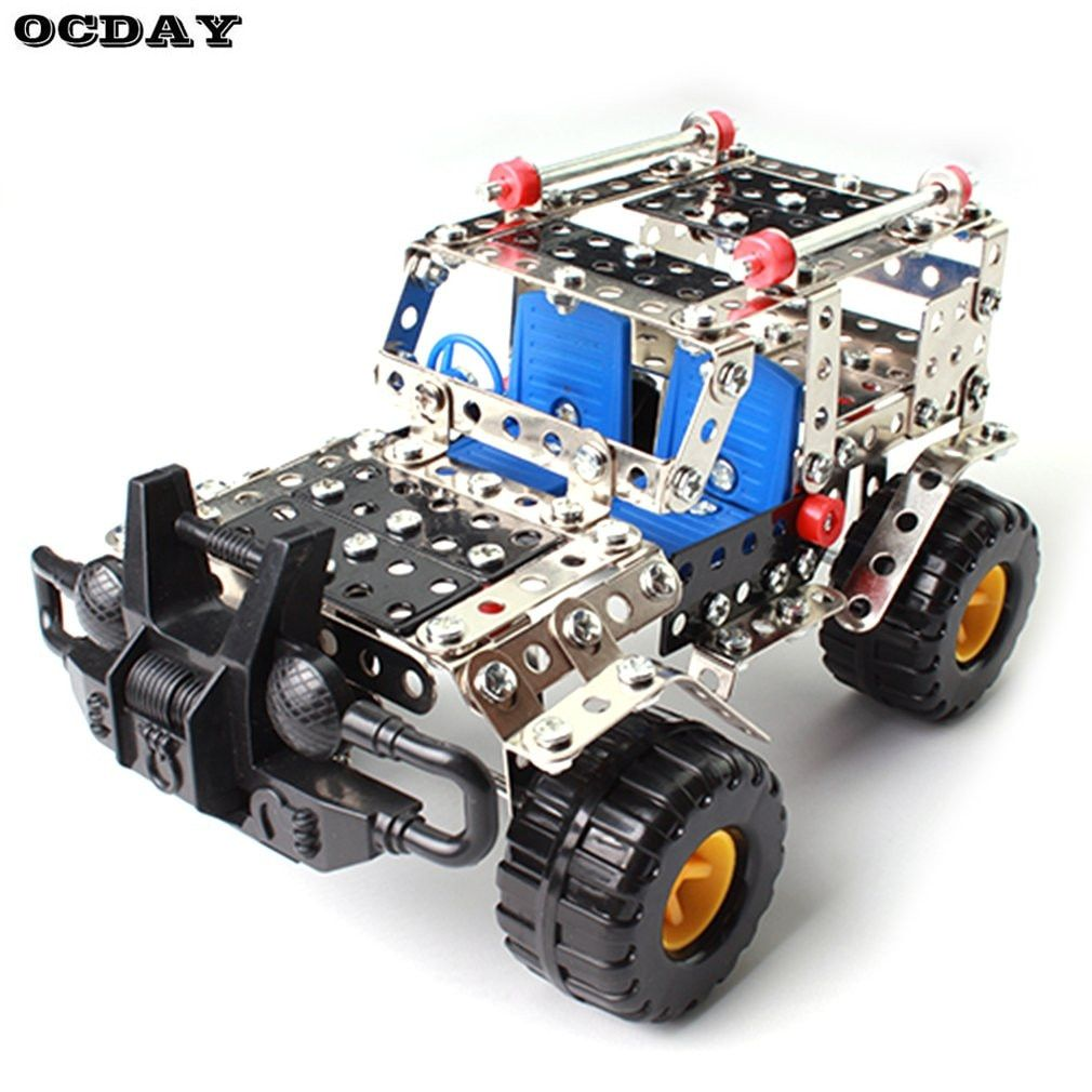 Cross-country Vehicle Constructor Toys 262Pcs/Set Metal Enlighten Assembly Model Building Kits Blocks Toys For Boys Girls Gifts