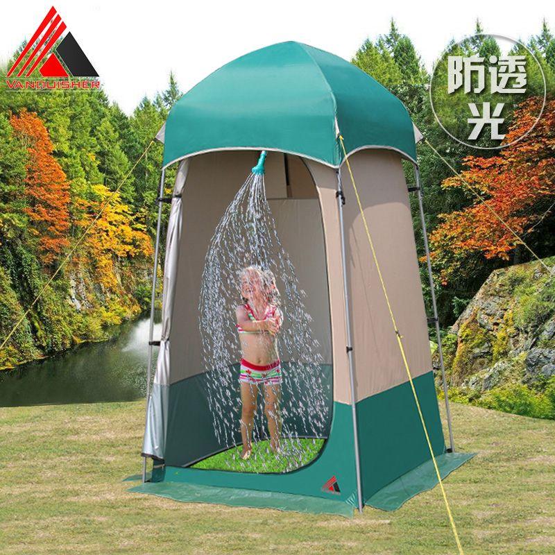 VANQUISHER Neue stil einfach bedienen camping dusche zelt/wc/dressing umkleideraum zelt/Outdoor bewegliche WC boden bewegen kann