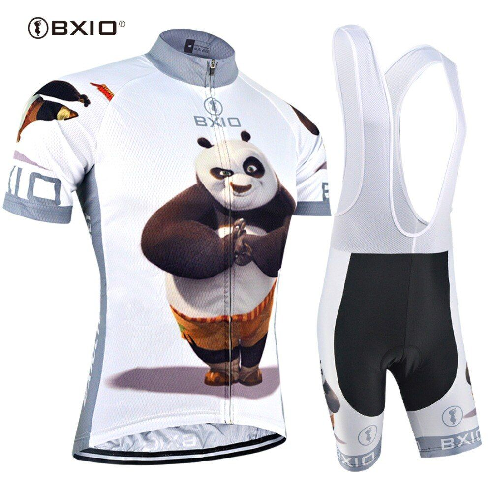 BXIO 2018 Funny Cycling Jerseys Ropa De Ciclismo Fat Bear Raiders Mans Pro Cycling Clothing Sets Completo Ciclismo Estivo 081