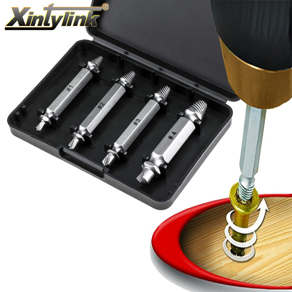 xintylink double side drill bits damaged bolt removal kit metal stripped damaged screw extractor remover tool drill guide set